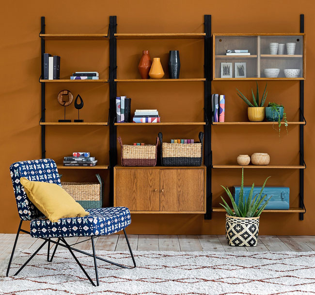 Quilda midcentury modern shelving at La Redoute