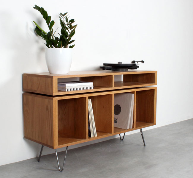 Retro record storage units by Urban Editions