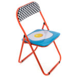 Blow pop art folding chairs by Seletti