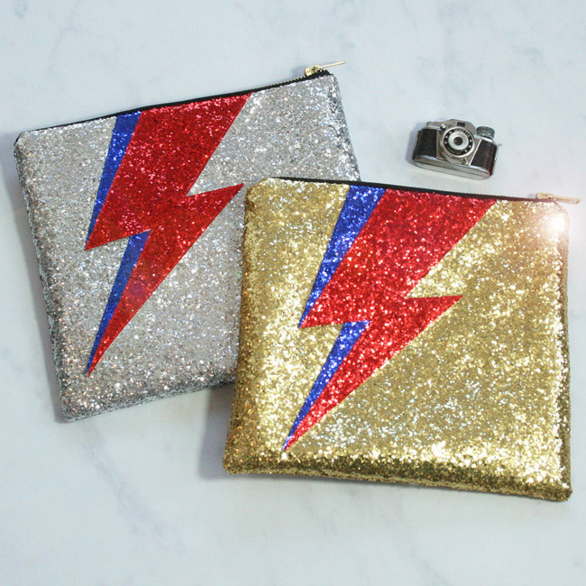 David Bowie-inspired glitter clutch bag by SoS15