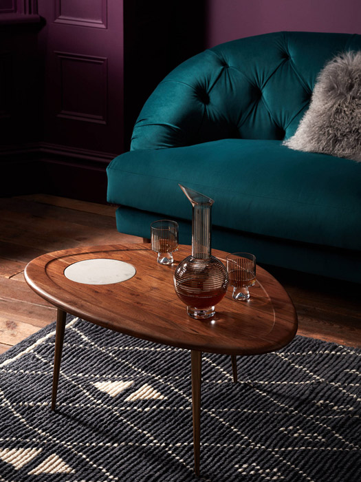 John Lewis x Swoon Wren midcentury modern coffee table