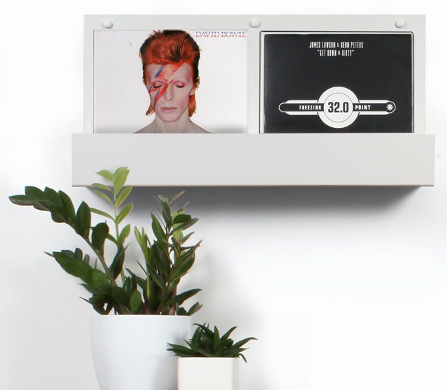 24. Vinyl holder display shelving by The Urban Editions