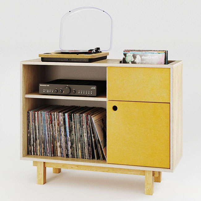 37. Turntable stands and record storage by Kunsst Furniture