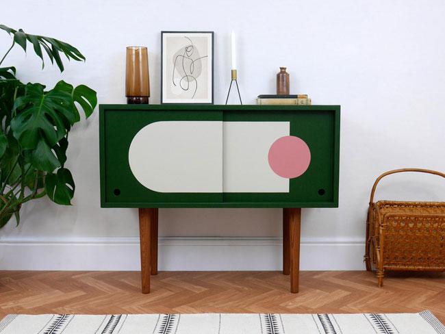 38. Graphic vinyl cupboards by Elizabeth Dot Design