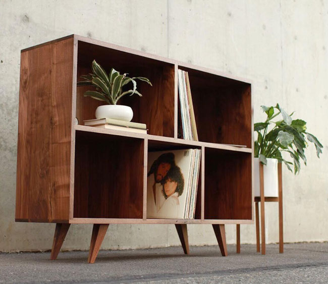 39. Couzens LP Console by Tomfoolery Wood