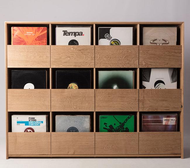 41. Burke and Marshall bespoke vinyl storage cabinet