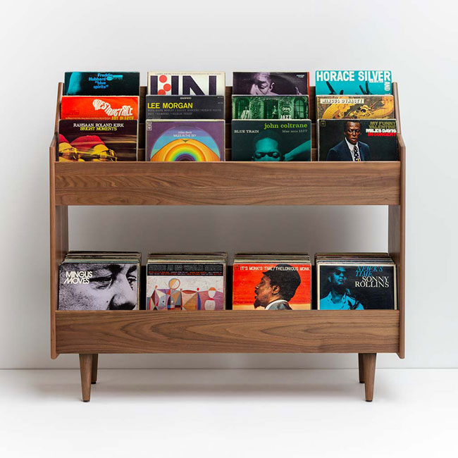 42. Luxe 4-bay record stand by Symbol