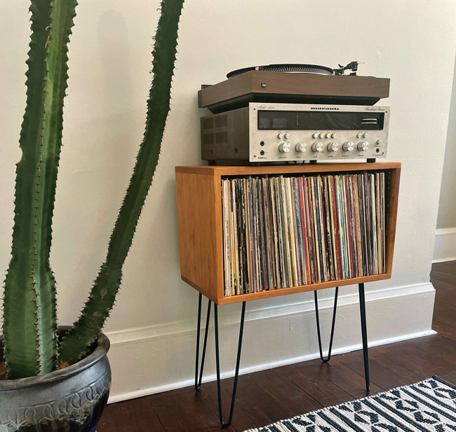 43. Record Cube Stand by Hifi Woodworks