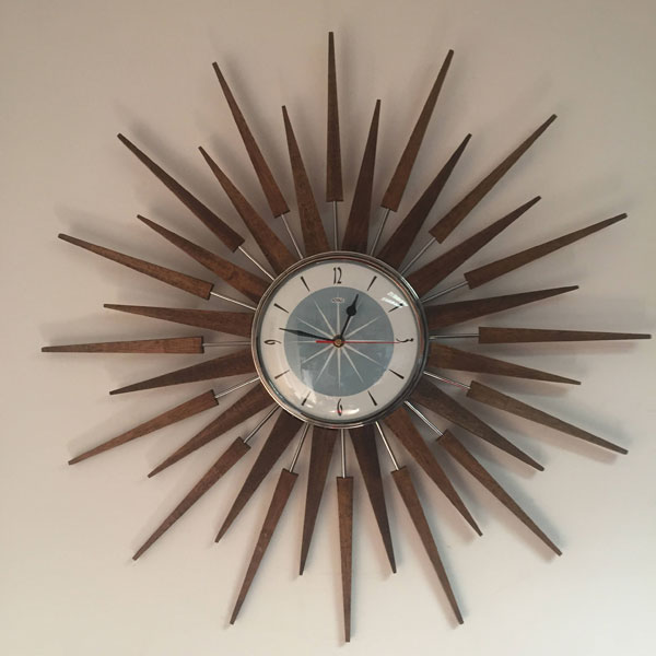 10 of the best retro sunburst wall clocks