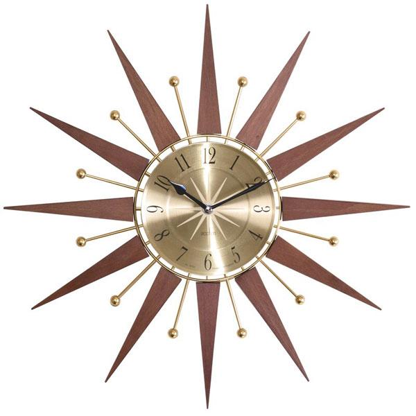 3. Wolcott wood and metal spoke wall clock at Wayfair
