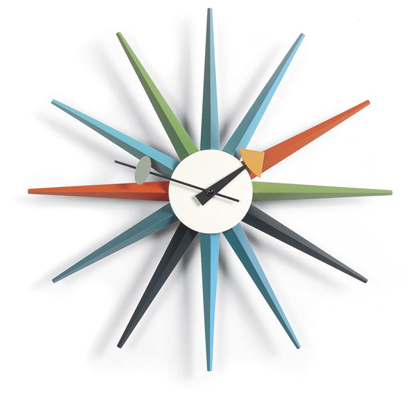 4. 1950s George Nelson sunburst wall clock by Vitra