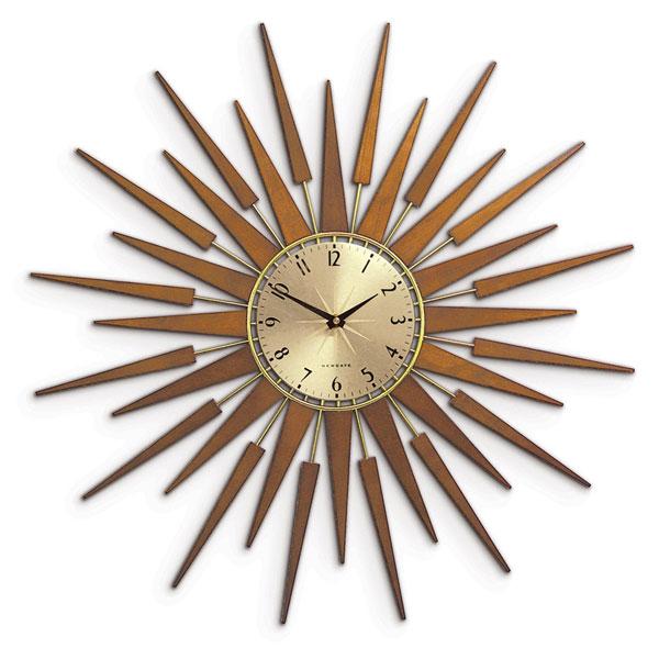 5. Pluto sunburst wall clock by Newgate