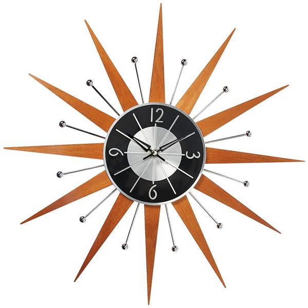 7. Telechron wooden sunburst clock