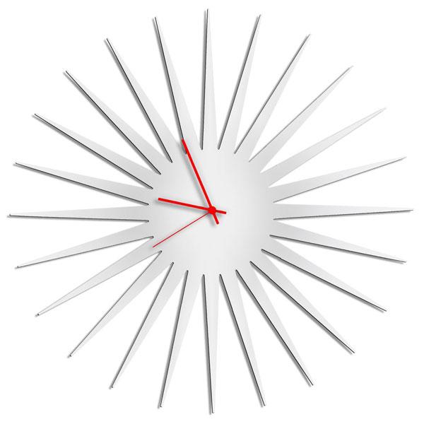 8. Handmade midcentury modern sunburst clock by Modern Crowd