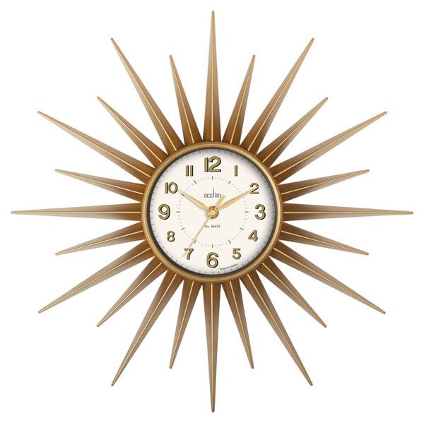 9. Acctim Stella budget sunburst wall clock