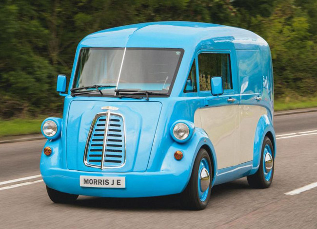 1940s Morris J-Type van returns as electric vehicle