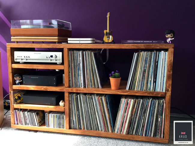 26. Record player stand and storage by Krud Furniture