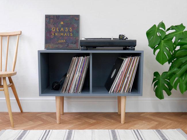 28. Midcentury modern vinyl cupboards by Elizabeth Dot Design