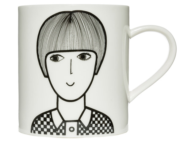 Retro Mary Quant Mug by Jane Foster