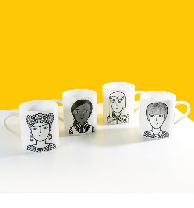 Retro Mary Quant Mug by Jane Foster