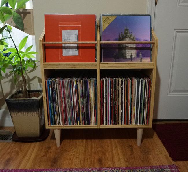 31. Scandinavian vinyl cabinet by DK Displays