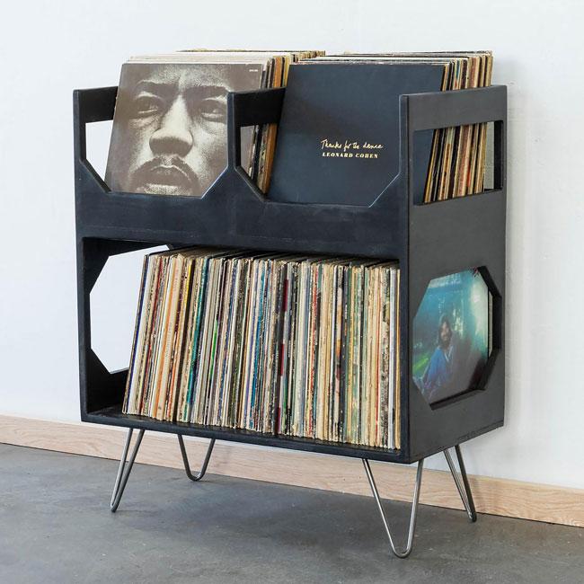 33. Vinyl storage unit by Wicker WoodWorks