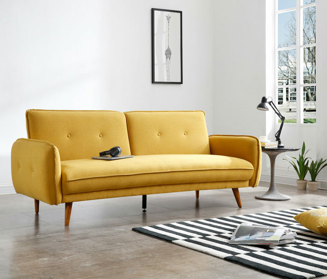 11. Celia retro sofa bed at Bensons For Beds
