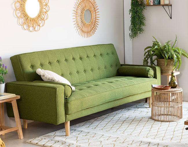 14. Three-seater Brion linen sofa bed at Sklum
