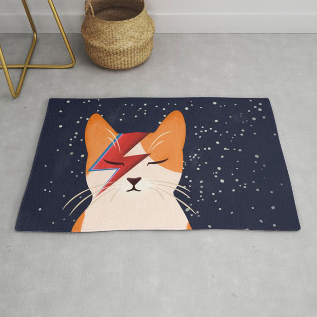 16. David Meowie Rug by Boadala