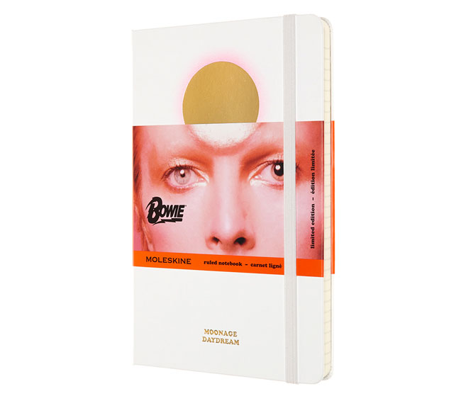 18. David Bowie Moleskine notebooks