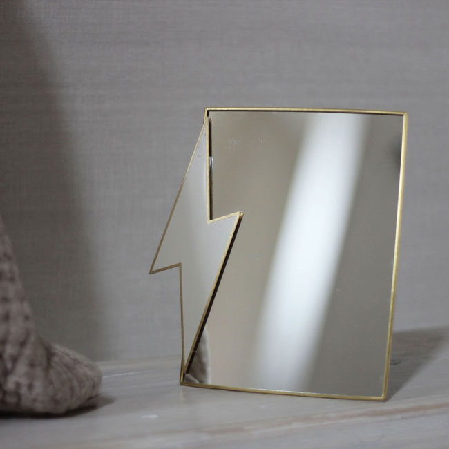 19. Bowie mini thunderbolt mirror