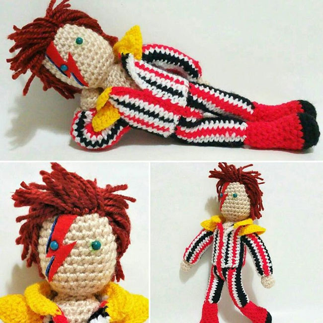 4. David Bowie knitted doll