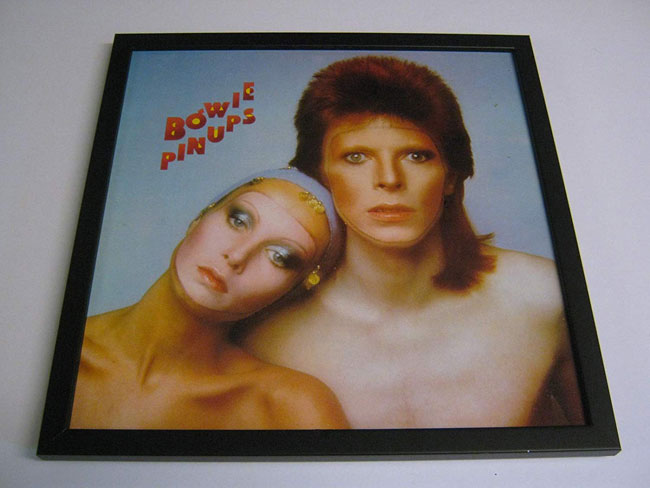 David Bowie album in a frame
