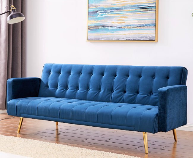 3. Clementine retro sofa bed at Wayfair