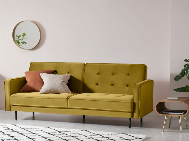 13. Rosslyn midcentury modern sofa bed at Made