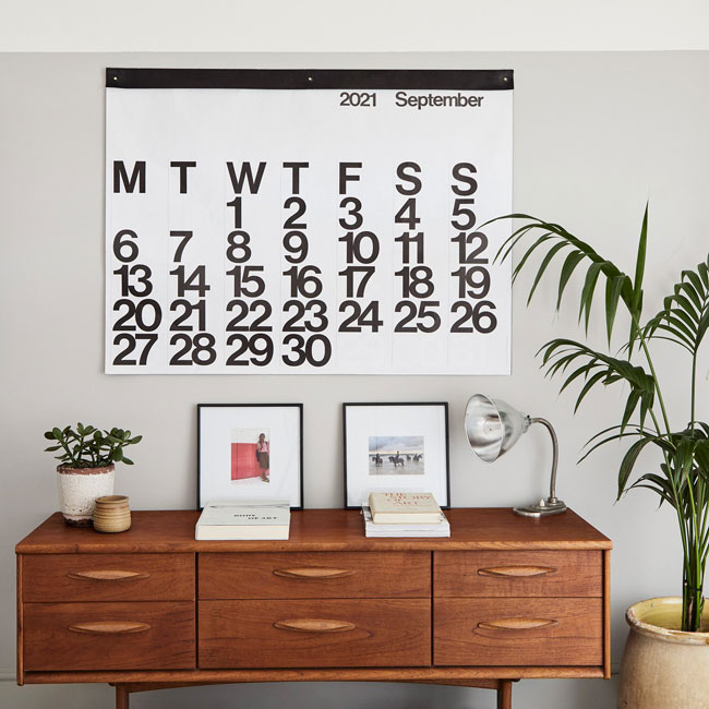 Design classic: 1960s Stendig wall calendar returns for 2021