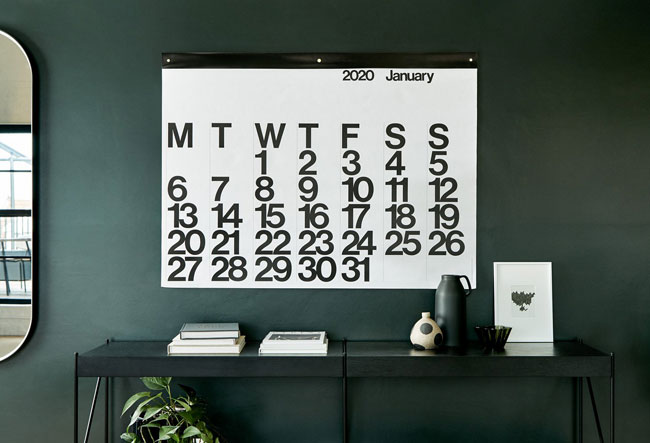 Design classic: 1960s Stendig wall calendar returns for 2020