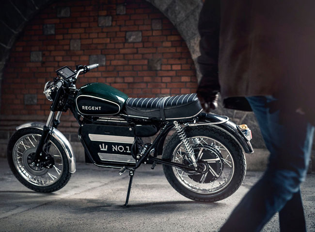 15. 1960s-style Regent No. 1 electric motorcycle by Regent
