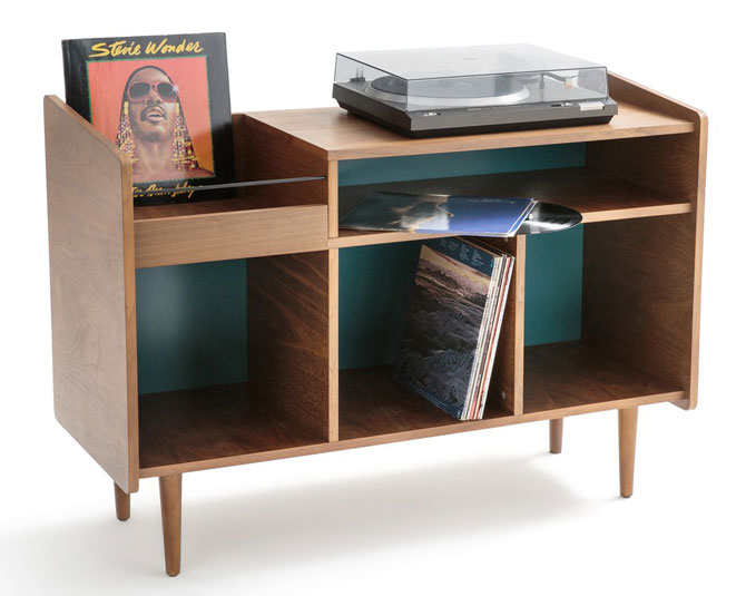 1. Ronda 1960s-style vinyl cabinet at La Redoute