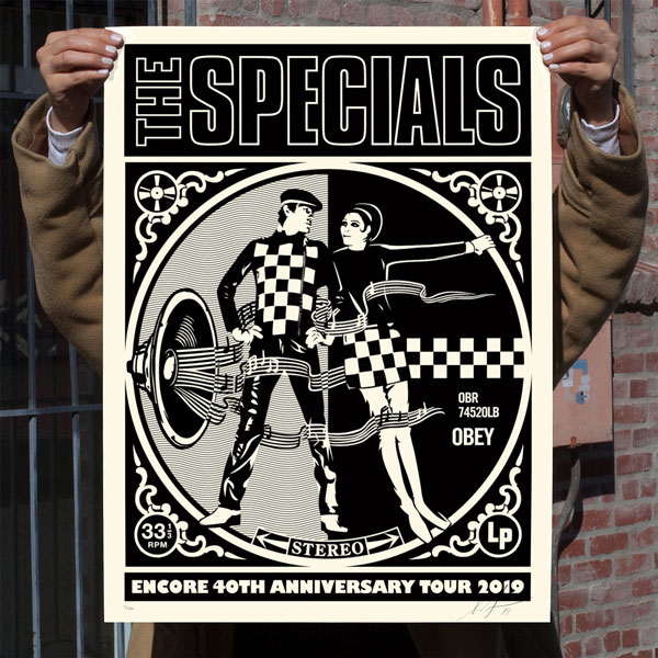 24. The Specials 40th-anniversary tour print by Shepard Fairey
