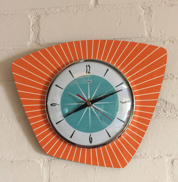 8. Authentic midcentury modern clocks by Royale Enamel