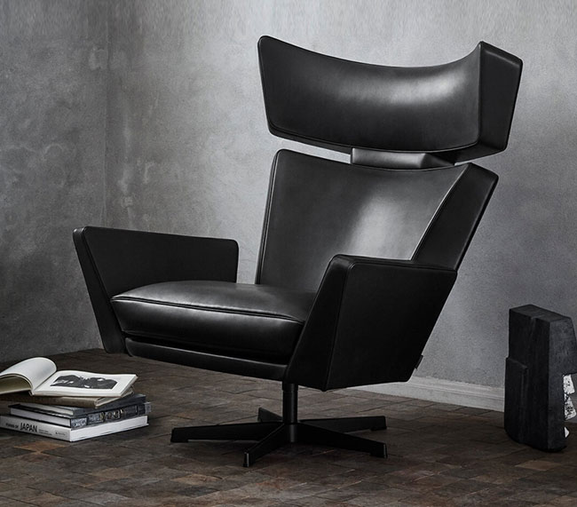 10. 1960s Oksen lounge chair by Arne Jacobsen