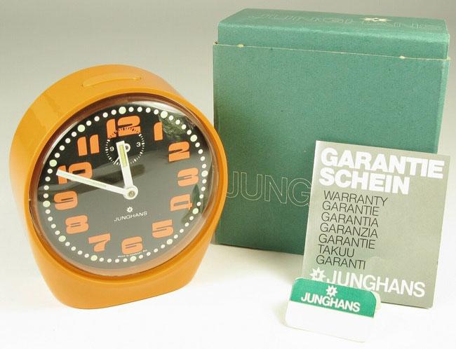 10. 1970s vintage Junghans alarm clock