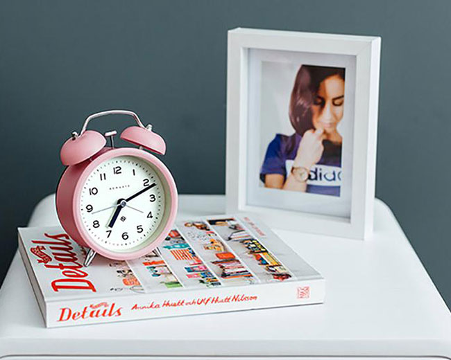 3. Echo alarm clock by Newgate