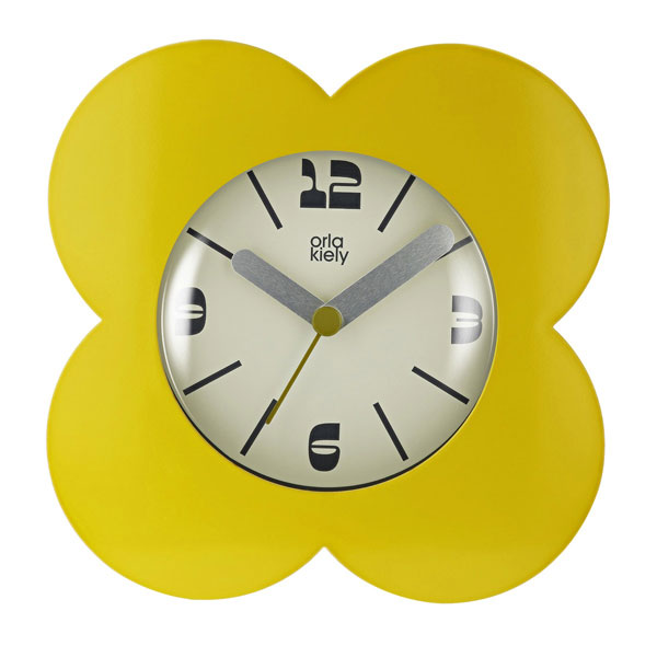 5. Retro Dandelion alarm clock by Orla Kiely