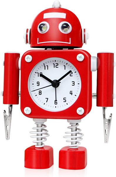 6. Retro robot alarm clock