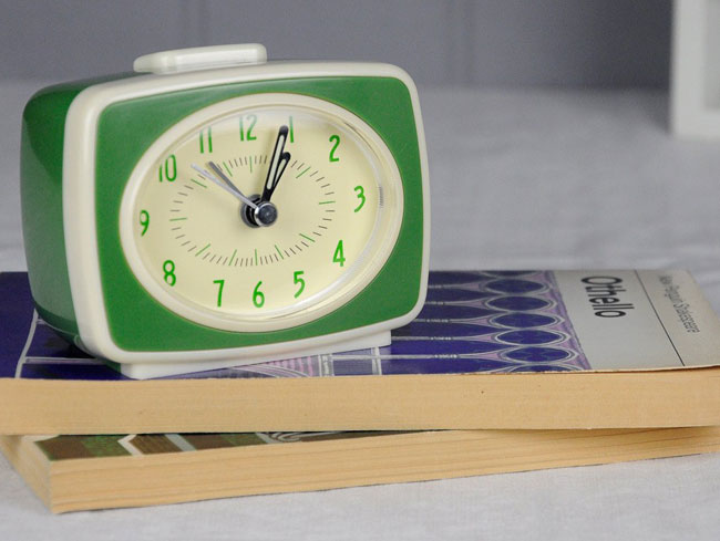 9. Retro TV-style alarm clock at Rex London