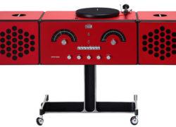 1960s Brionvega Radiofonografo record player returns in red