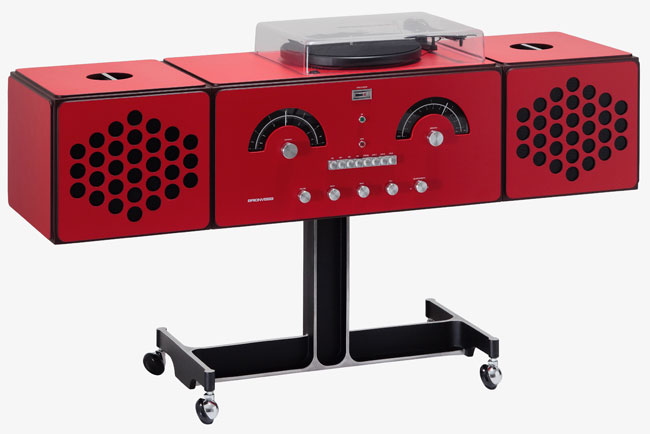 1960s Brionvega Radiofonografo record player returns in red
