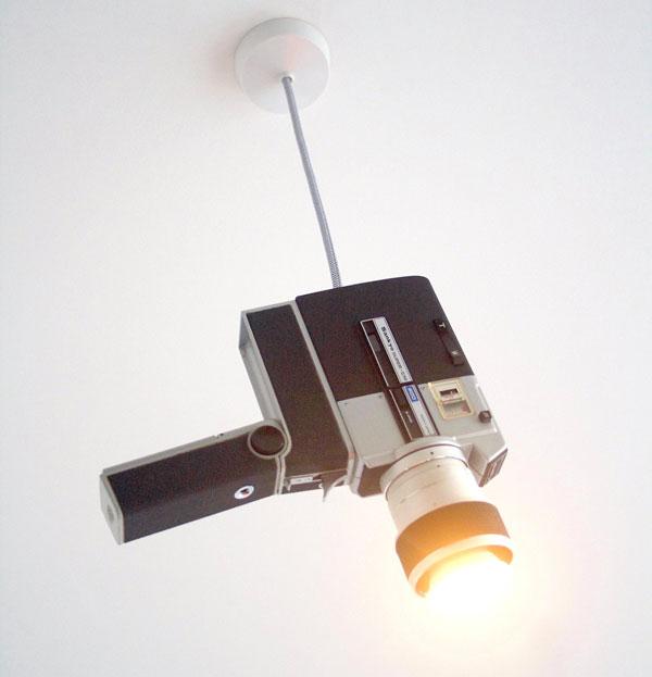 Vintage cine camera lighting by Four Legs